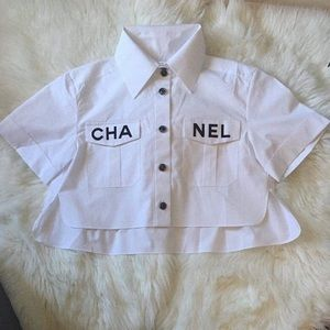 Pre-owned Chanel Runway White Shirt